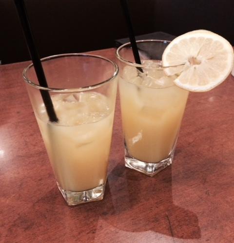 Single lady drinks